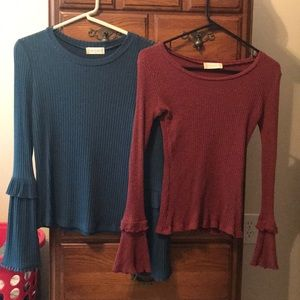 Two S altar'd state bell sleeve tops!